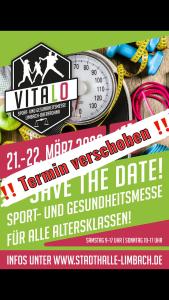 Vitalo 2020 – Sport- und Gesundheitsmesse – Aufgrund der aktuellen Situation wird die Veranstaltung verschoben.