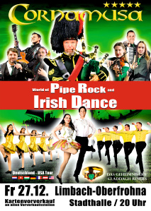 CORNAMUSA – WORLD OF PIPE ROCK AND IRISH DANCE