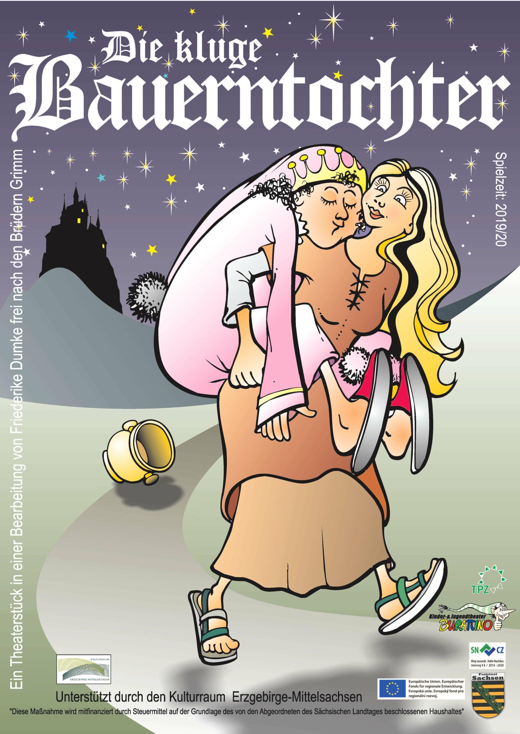 Burattinos Kindertheater: Die kluge Bauerntochter