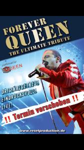 Forever Queen performed by QueenMania – Aufgrund der aktuellen Lage wird die Veranstaltung verlegt.