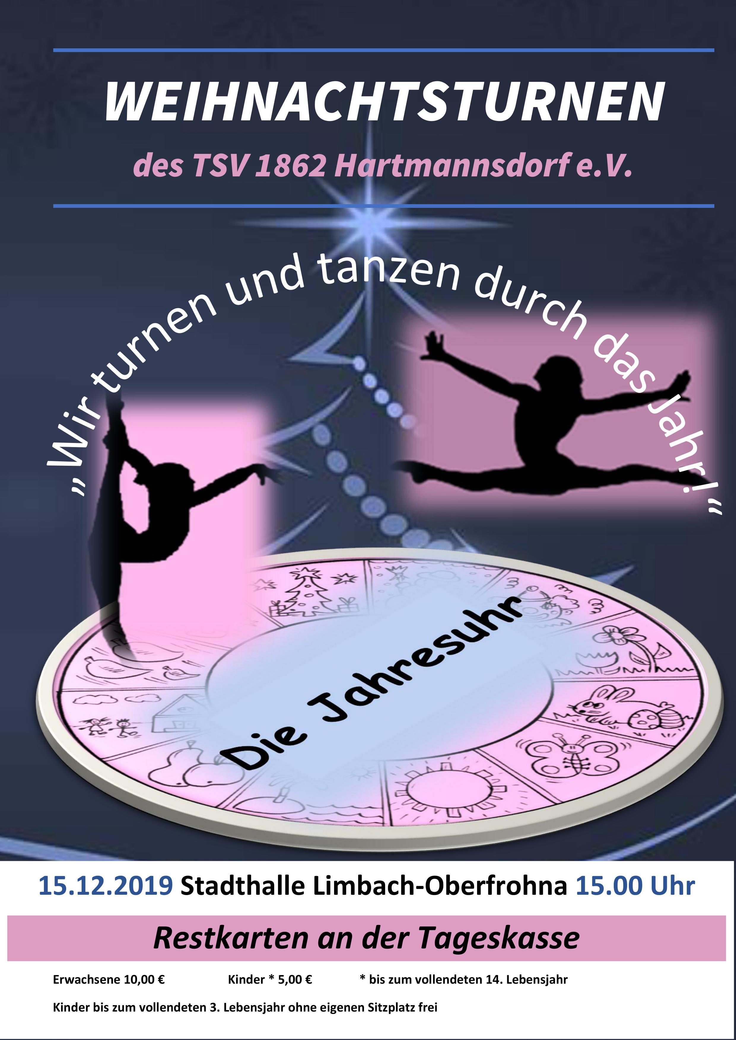 Weihnachtsturnen des TSV 1862 Hartmannsdorf e.V.