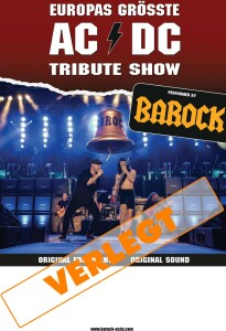"VERLEGT:""BAROCK – The AC/DC Tribute Show"""